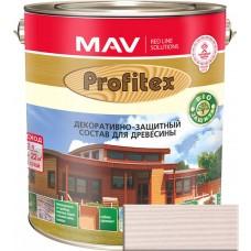 Mav PROFITEX защитно-декоративный cостав для древесины Белый - 10,0 л. (8,0 кг)