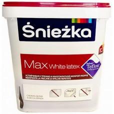 Sniezka MAX WHITE LATEX - краска для стен и потолков - 5л.