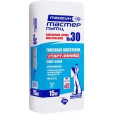 Тайфун Мастер 30 белая гипсовая шпатлевка - 15,0 кг