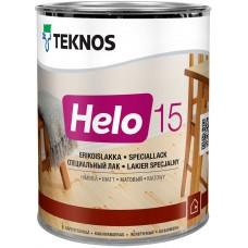 Teknos Helo 15 - уретано-алкидный лак для дерева - 0,9л (полуматовый)