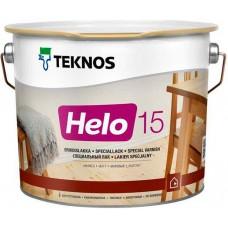 Teknos Helo 15 - уретано-алкидный лак для дерева - 2,7л (полуматовый)