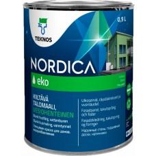 Teknos Nordica Eko - акрилатная краска для дерева - 0,9л