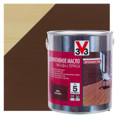 V33 ФАСАДЫ и ТЕРРАСЫ - декоративное масло для дерева - 2,5л